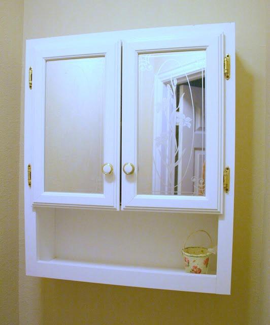 bathroom cabinet before makeover