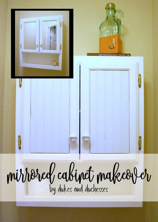 mirrored cabinet makeover