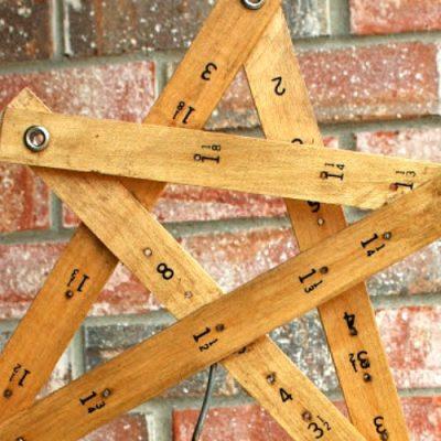Upcycled Christmas Star