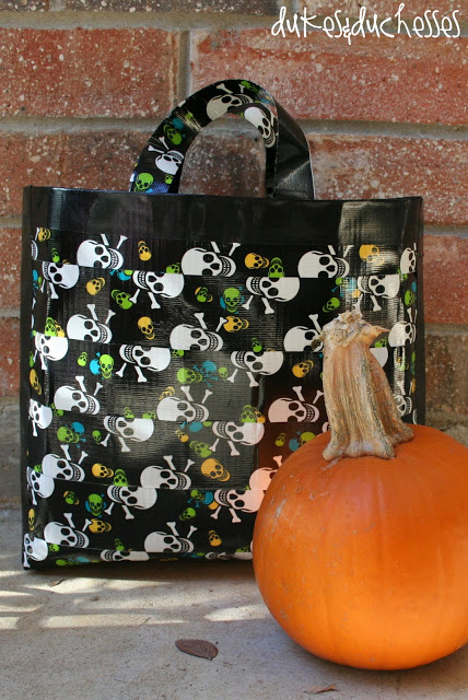 duct tape halloween candy bag