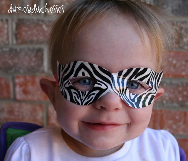 Duck Brand Duck Tape zebra mask