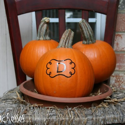 A Monogrammed Pumpkin