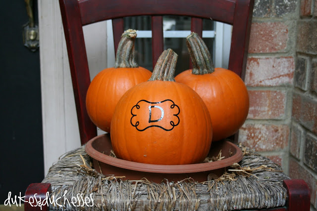 monogrammed pumpkin using Silhouette