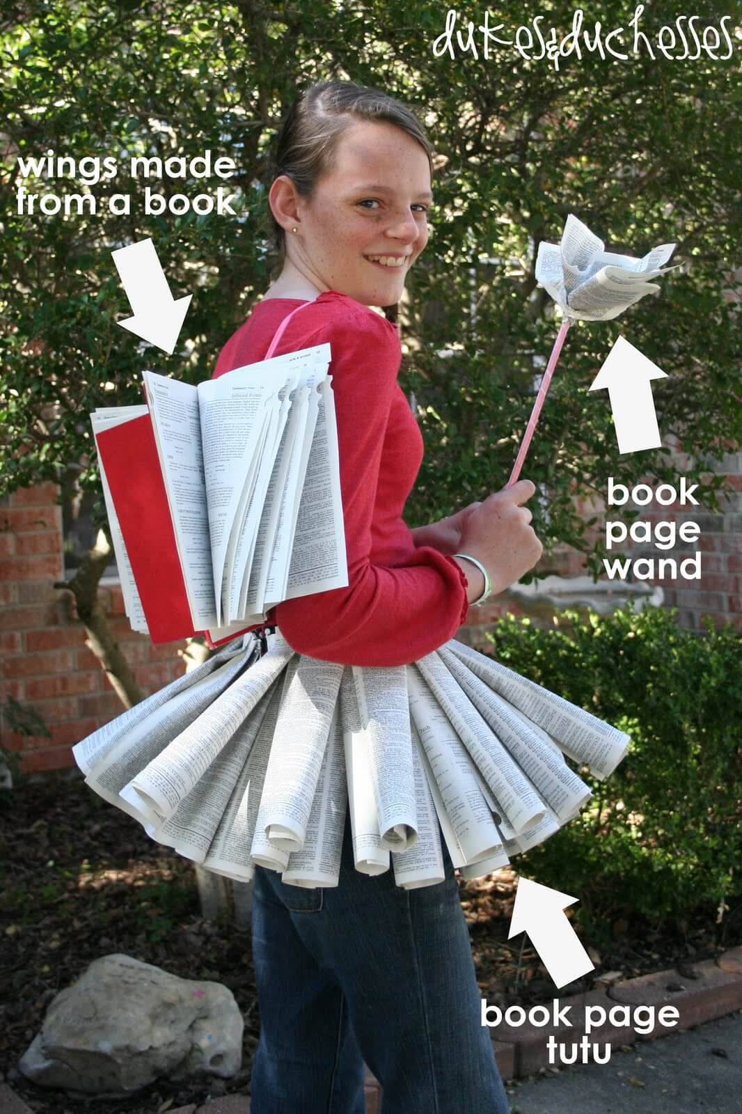 homemade Halloween costume  sc 1 st  Dukes and Duchesses & Book Fairy Halloween Costume - Dukes and Duchesses