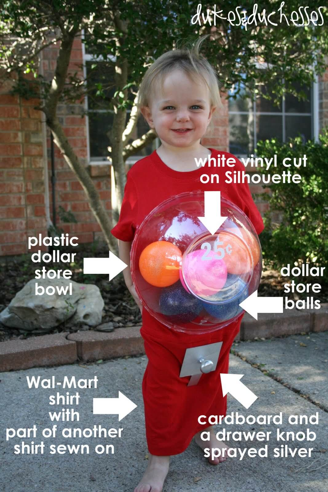 A Gumball Machine Costume - Dukes and Duchesses Diy Halloween Costumes For Girls Age 10