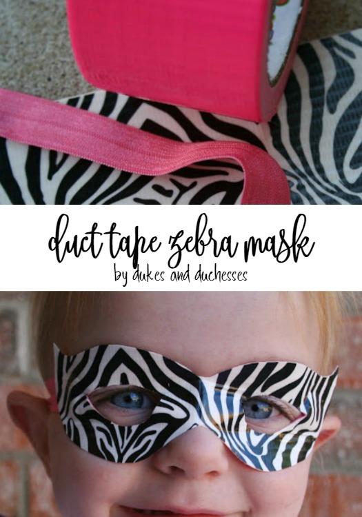 duct tape zebra mask