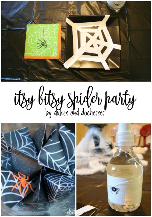 itsy bitsy spider party for halloween