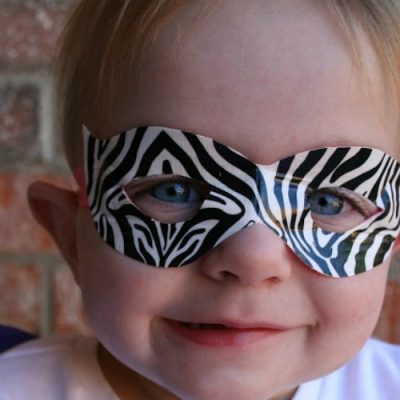 A Zebra Mask {with Duct Tape}