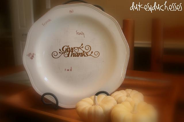 A gratitude plate
