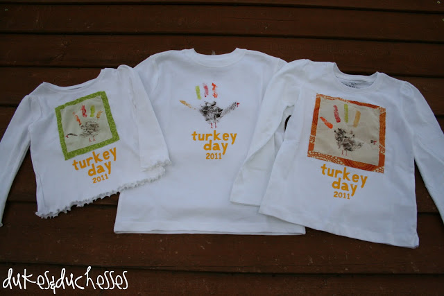 Turkey Handprint Shirts