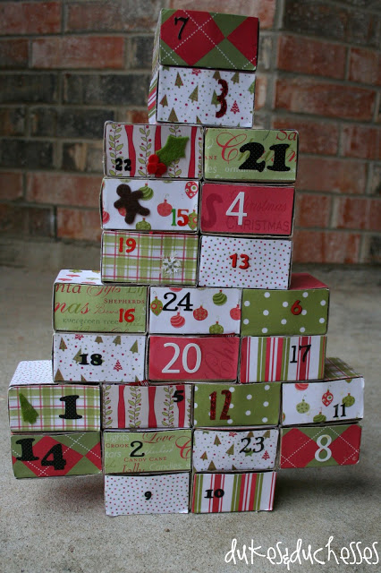 24 days of service advent calendar
