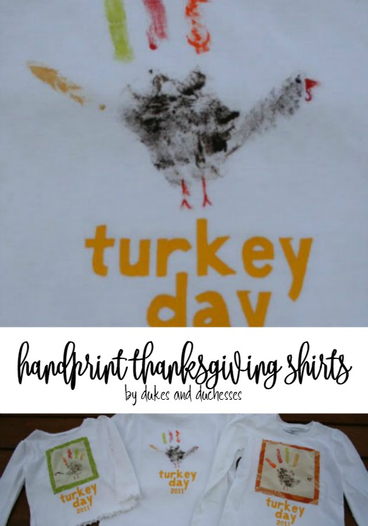 handprint thanksgiving shirts