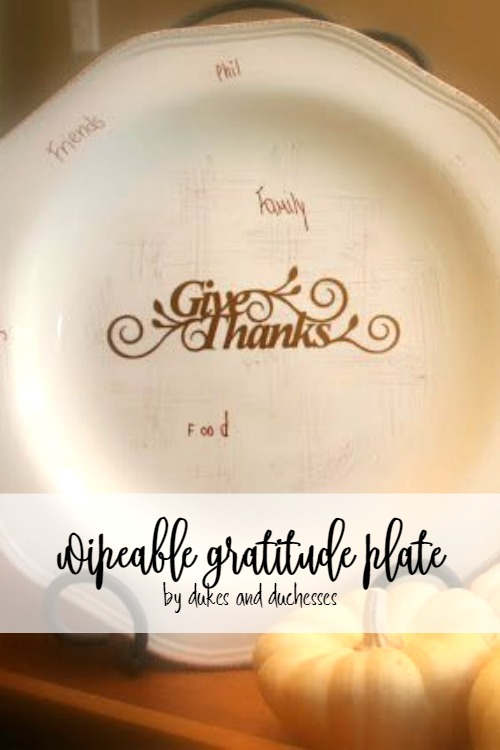 wipeable gratitude plate