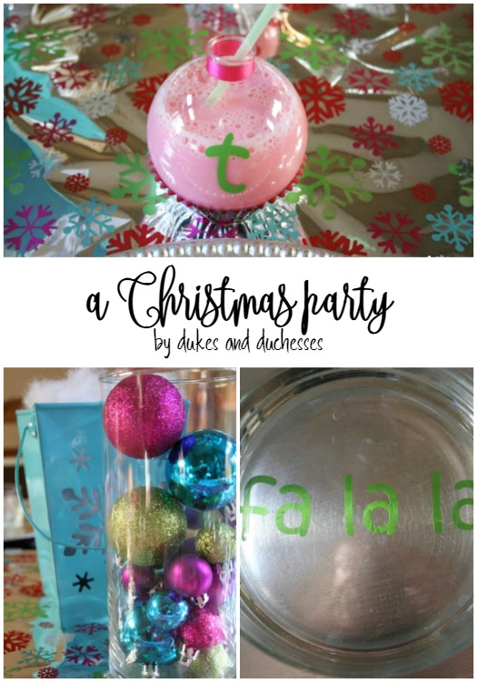 christmas party with DIY details