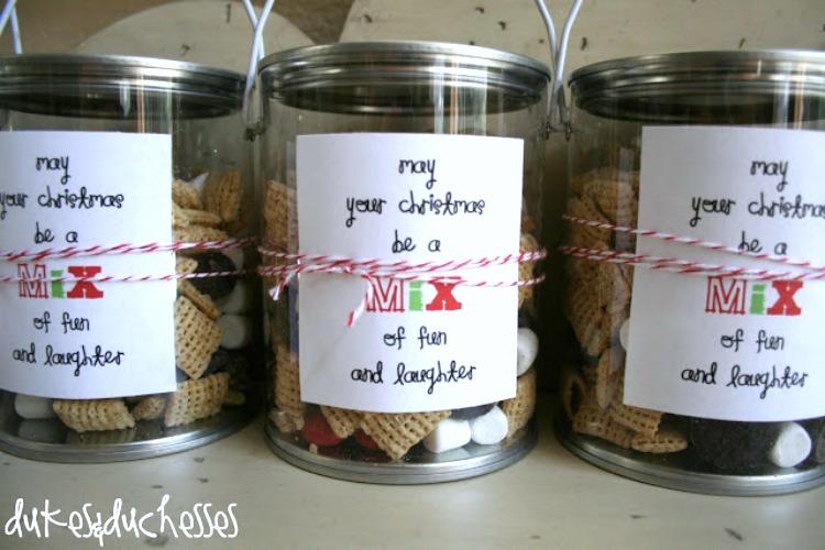 neighbor snack mix gift idea