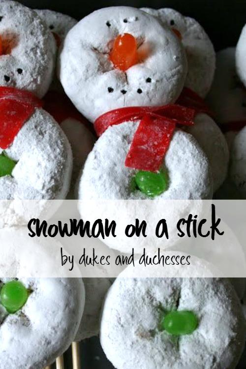 snowman on a stick