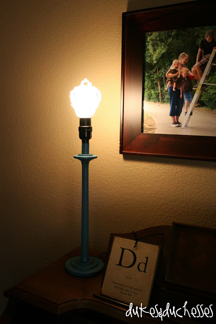 beaded bulb cover on a lamp