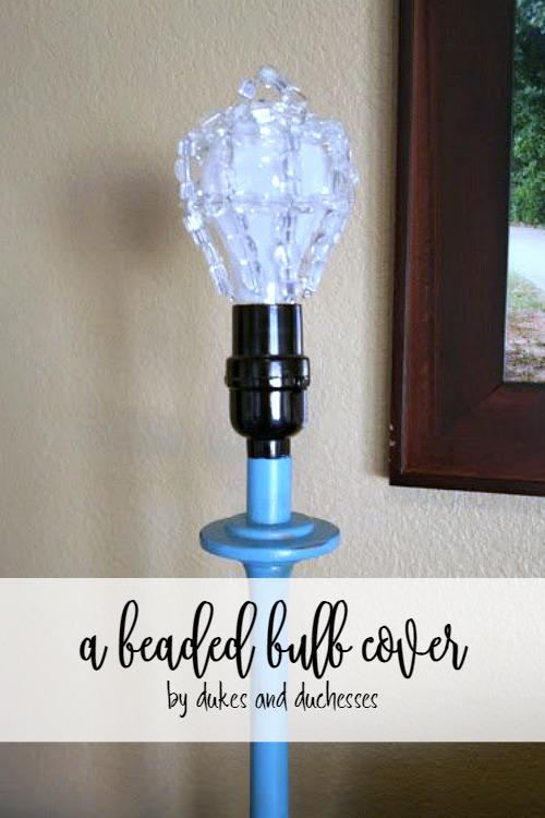 beaded bulb cover