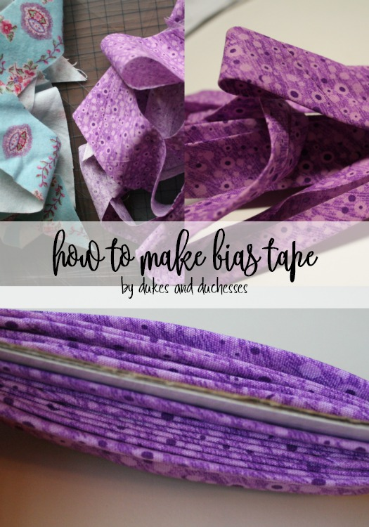 how to make bias tape for sewing