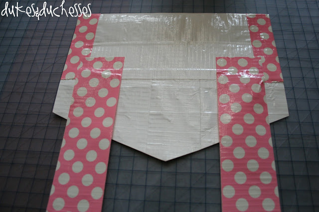 how to make a duct tape chair back envelope