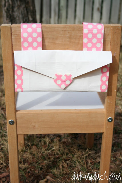 how to make a chair back envelope with duct tape