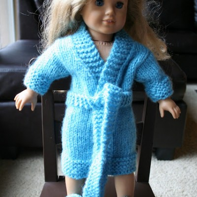 A Knit Robe for a Doll