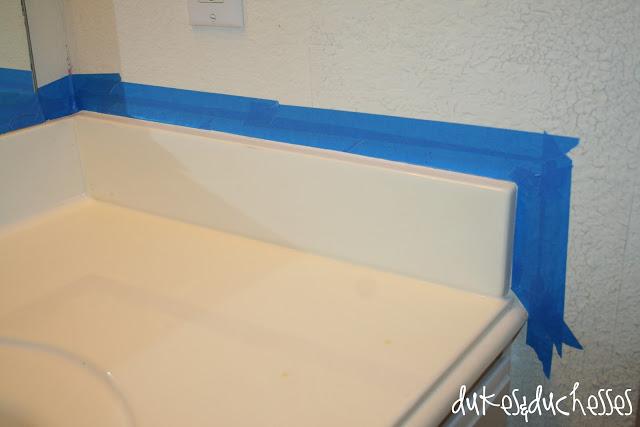 Painted granite countertops