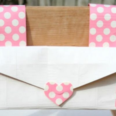 Duct Tape Chair Back Envelope
