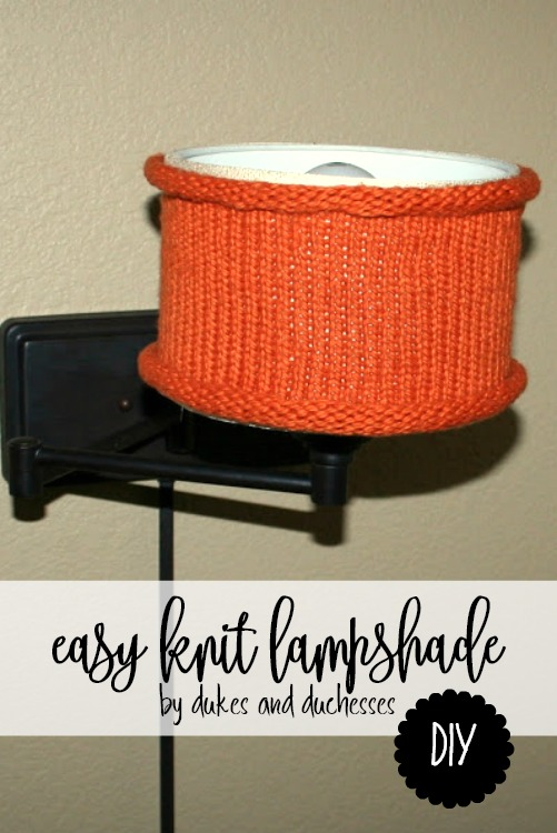 easy DIY knit lampshade