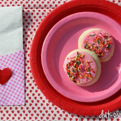 Valentine's Day Tablescape with Duct Tape