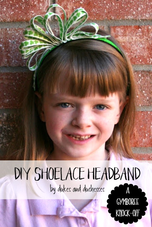DIY shoelace headband