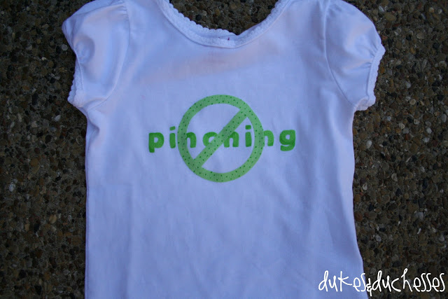 No pinching st. patrick's day shirt