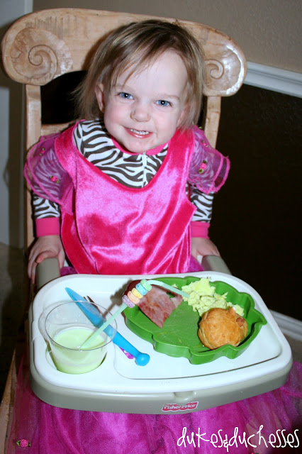 Green eggs and ham for breakfast