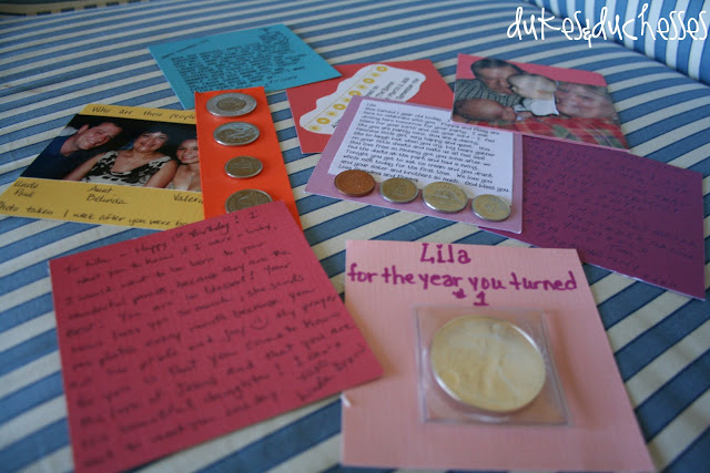 First birthday time capsules