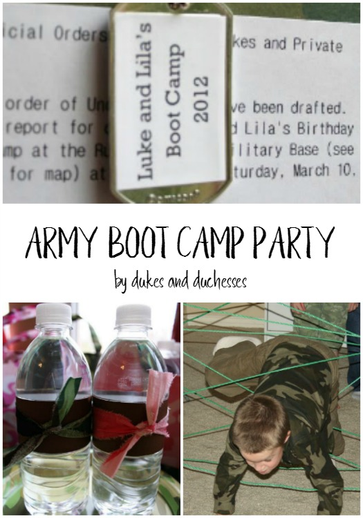 army boot camp party