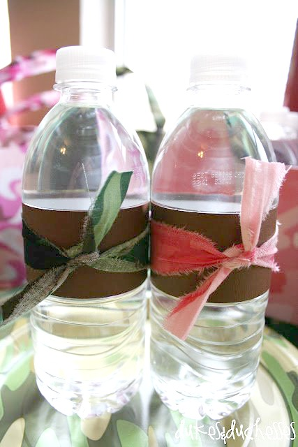 camo water bottles for army boot camp party