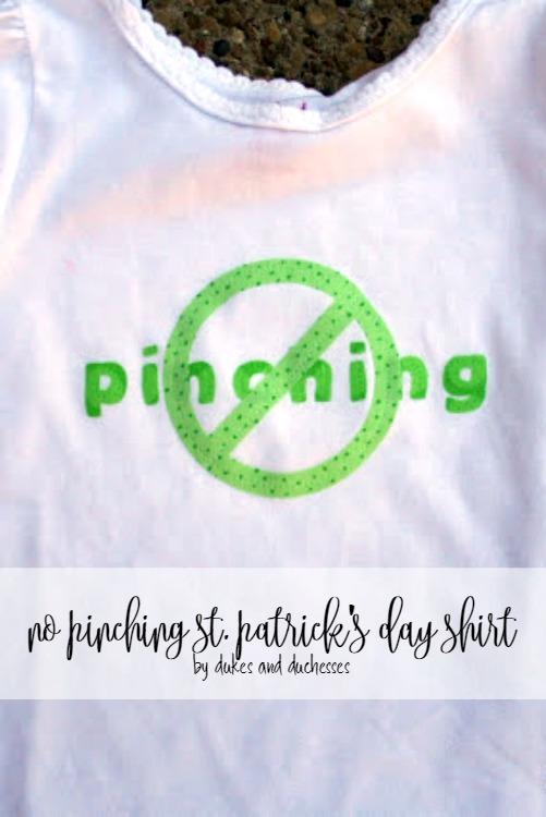 no pinching st patrick's day shirt