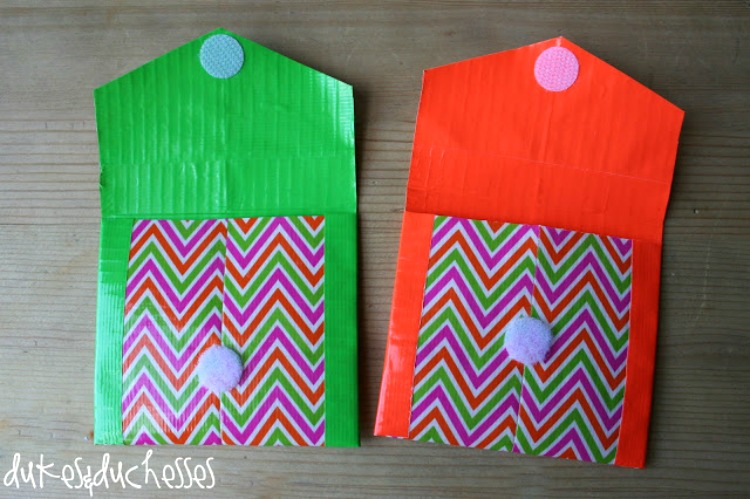 How To Make A Duct Tape Pocket Wallet Duct Tape Craft Ideas