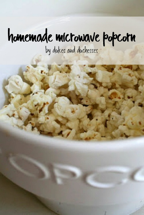 easy homemade paper bag microwave popcorn