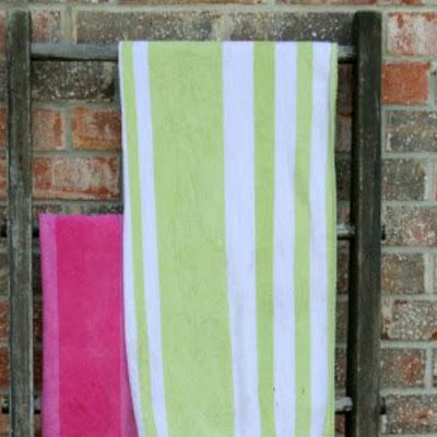 A Vintage Ladder Towel Rack