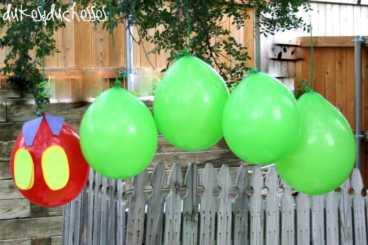 very hungry caterpillar balloon decoration