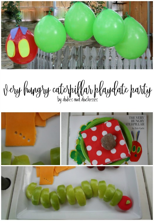 very hungry caterpillar playdate party