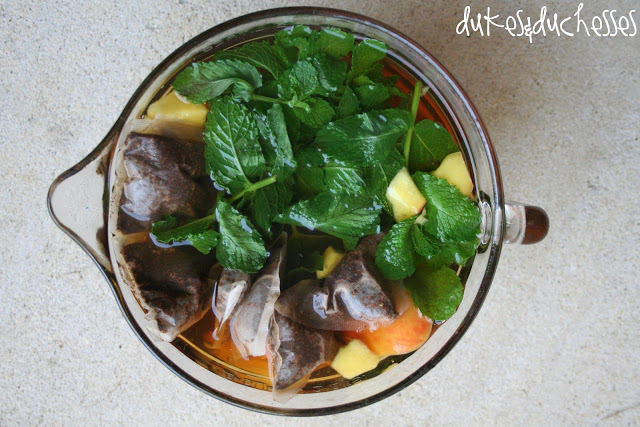 mint peach iced tea recipe