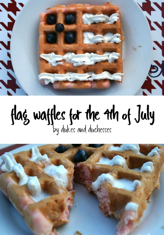 flag waffles for the 4th of July