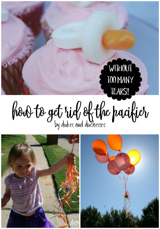 how to get rid of the pacifier without too many tears