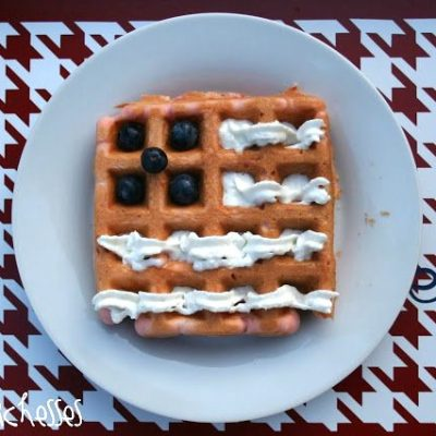 Flag Waffles {for the 4th of July}