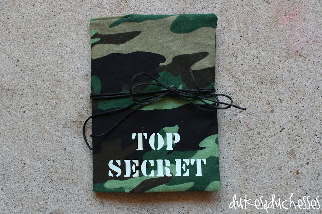 spy journal with glow in the dark lettering
