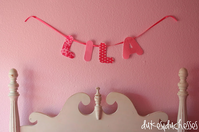 A No Sew Personalized Garland