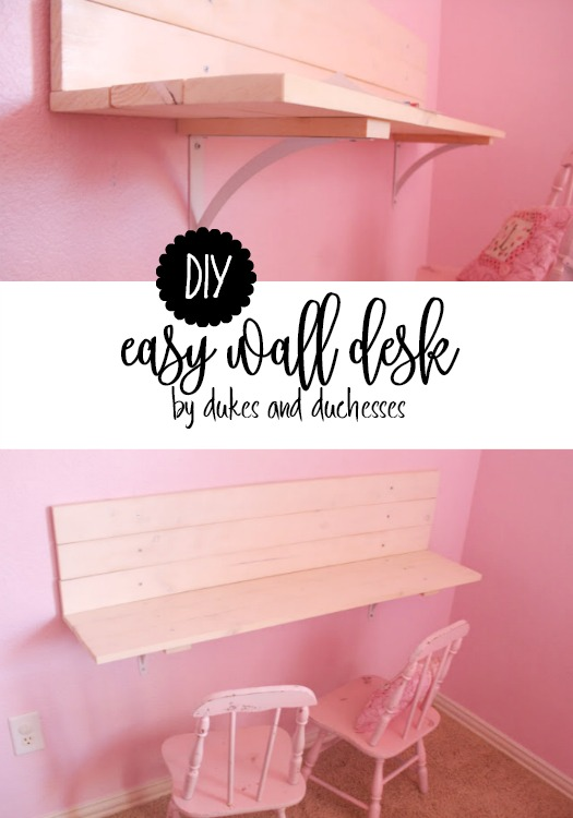 easy DIY wall desk