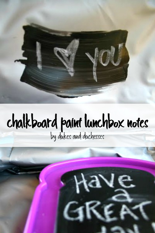 chalkboard paint lunchbox notes